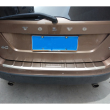 Car styling chrome stainless steel rear bumper cover trim for 2013 2014 2015 volvo xc60 accessories