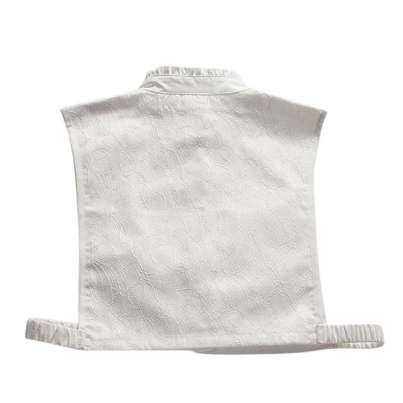 Solapa Suéter A Sin Decoración Tops Camisas Negro d Mangas b c Collar Falso Blusa Mujer Desmontable FqSETT