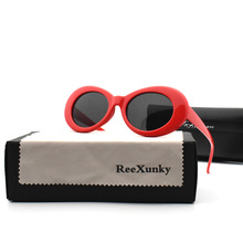 Clout Goggles Sunglasses Men Women Kurt Cobain Mirror Glasses Retro Round Eyeglasses Female Male Trend Outdoor Sun UV400