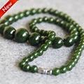 2015 Новый Ожерелье 6-14 мм Natural Green Аметист Ожерелье подарок женщины девушки шарики нефрита 18 дюймов Ювелирные Изделия изготовление дизайн-оптовая продажа