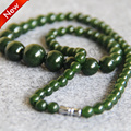 2015 New For Necklace 6-14mm Natural Green Amethyst Necklace gift women girls beads jade 18inch Jewelry making design wholesale