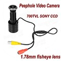 Sony 700TVL Mini Porta Eye Peephole Visor DA PORTA Câmera de Vídeo Cor CCTV Camera