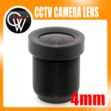 100pcs 4mm lens 78 Degrees Board Lens For CCTV Security CMOS/CCD ip Camera Free Shipping