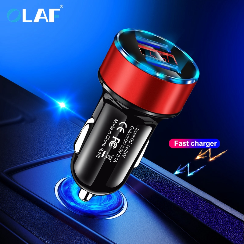5V 3.1A Metal Dual USB Car Charger Digital Display For iPhone X 8 XS MAX 7 Xiaomi Redmi Note 7 Samsung s10 Fast Charging Charger