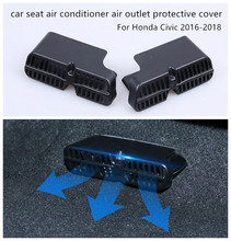 1 Pair Car seat air conditioner outlet protective cover ABS material For Honda Civic 2016 2017 2018 Decorative accessories