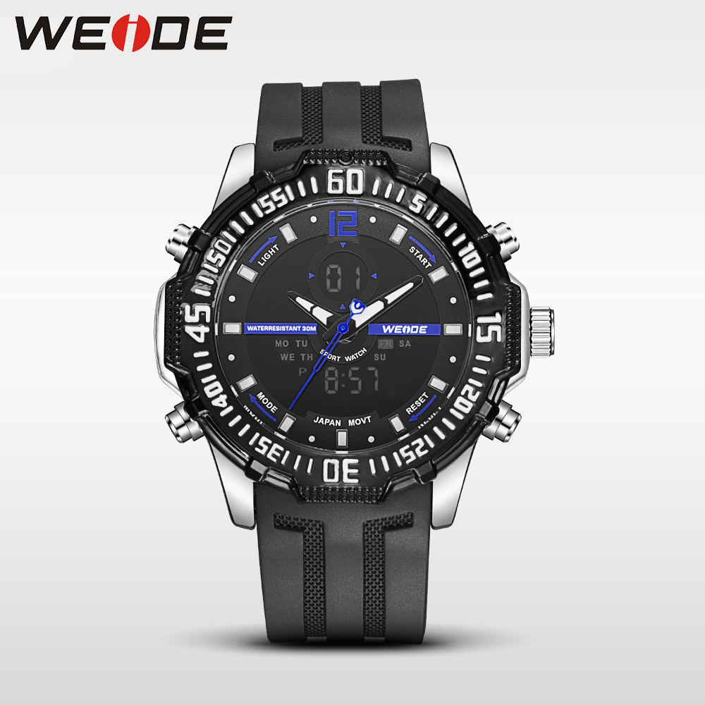 Weide new genuine watch luxury quartz sport LCD watches analog men alarm clock relogio masculino water resistant relogio militar weide casual genuine luxury brand quartz sport relogio digital masculino watch stainless steel analog men automatic alarm clock