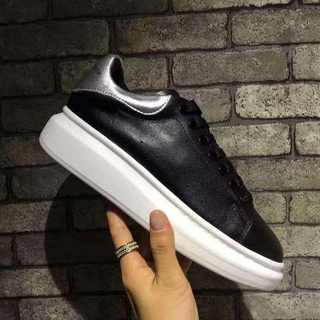 99b57fffd81887 Alexander-McQueen-McQ-Vrouwen-Mode -Zwart-4-Kleur-lederen-veterschoenen-Sneakers-Mode -Wit-Femal-Flats-Eur.jpg 640x640.jpg