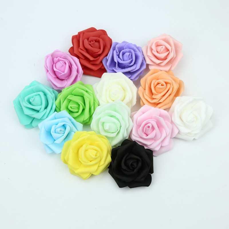 7CM mousse roses fleur mur maison mariage décoration accessoires de mariée dédouanement scrapbooking broche à la main fleurs artificielles
