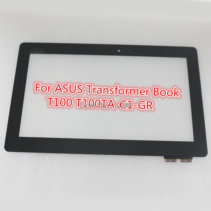 For ASUS Transformer Book T100 T100TA-C1-GR 10.1 black capacitive touch screen glass digitizer Free Shipping+Tracking No