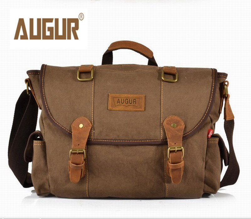 AUGUR New Men Messenger Bags Canvas Vintage Bag Shoulder Crossbody Bags for Man Small Clutch Bag Designer Women Handbags Bolsa aosbos fashion portable insulated canvas lunch bag thermal food picnic lunch bags for women kids men cooler lunch box bag tote