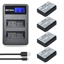 4x LP-E10 LP E10 LPE10 Camera Batteries +LCD USB Dual Charger for Canon EOS 1100D 1200D 1300D Kiss X50 X70 X80 Rebel T3 T5 T6