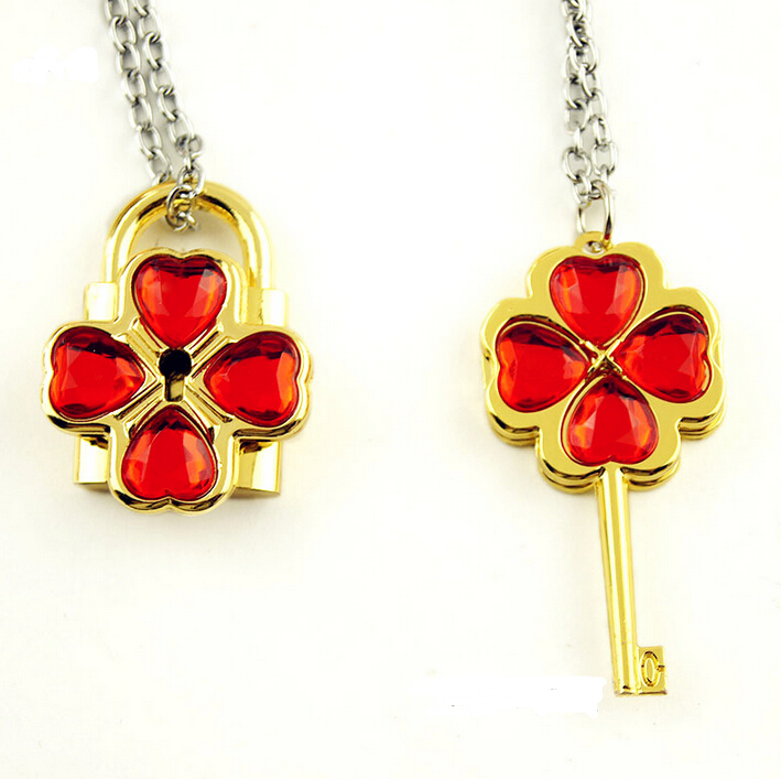 Shugo Chara anime cartoon Lovers necklace