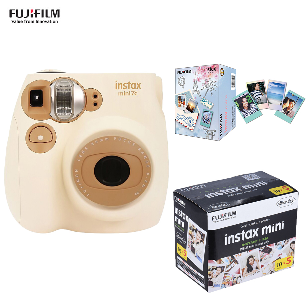 Fujifilm Instax Mini Film Camera Mini7c Instant Camera 50 Sheets Fujifilm Instax Mini Film Instax Mini