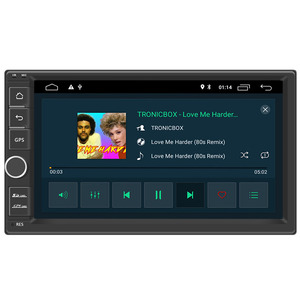 """Android 10.0 car stereo 2 double din player gps nav wifi 7"""" touch screen In dash head unit Universal 1024*600(China)"""