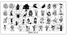SPH-013 1PC Spiderweb Image Templates DIY Nail Art Stamp Plate Template Decorations