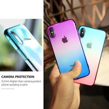 Gradient Color Phone Case for iPhone 6 6S Plus 7 8 Plus X XR XS Max