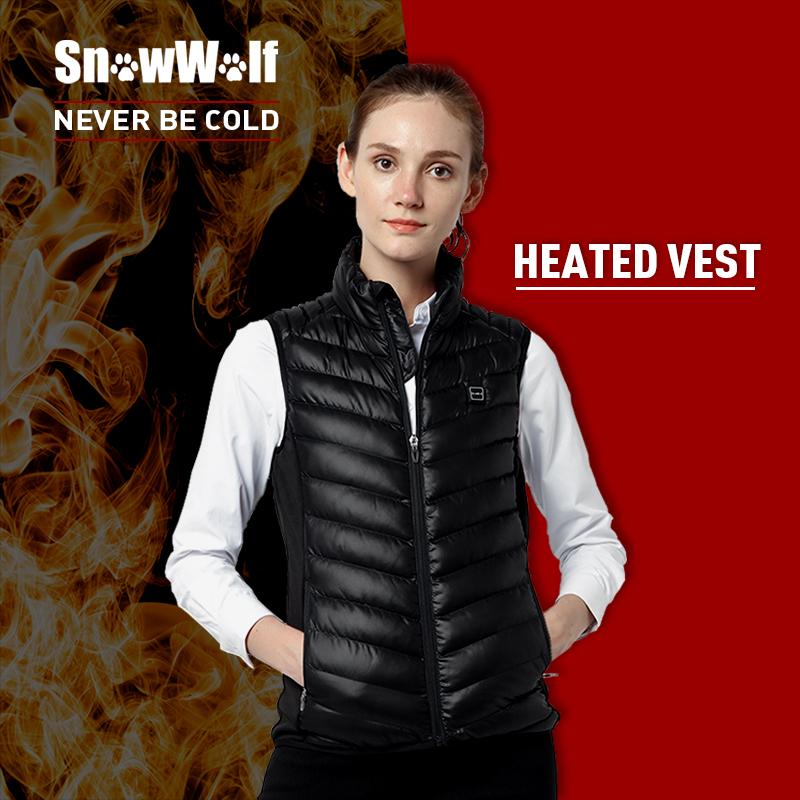 SNOWWOLF Infrared Heating Thermal Black Female Vests Woman's Winter Outdoor Sport Heated Vest for Hiking Running Hunting солнцезащитные очки snowwolf 2015 sw3502