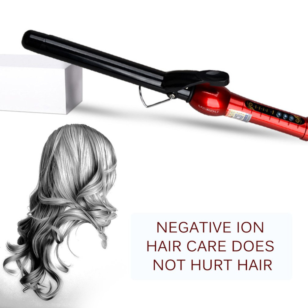 2018Professional Digital Display Wet Dry Ceramic Hair Curler