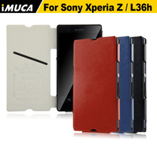 IMUCA чехол для Sony Xperia Z L36h Роскошные Флип кожаный чехол Капа для Sony Xperia Z L36h C6603 Защитный чехол Mobile телефон сумка