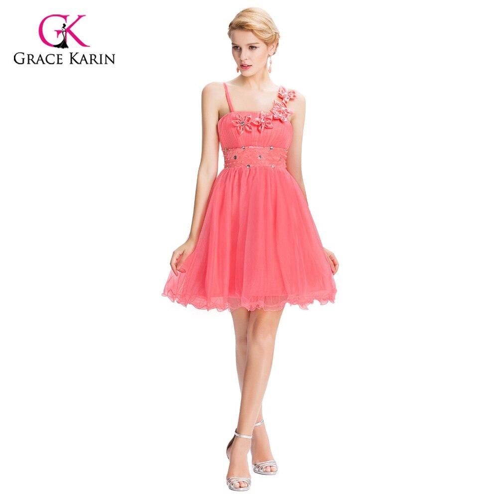 Grace Karin Strapless Ball Gown Short Bridesmaid Dresses Knee Length ...