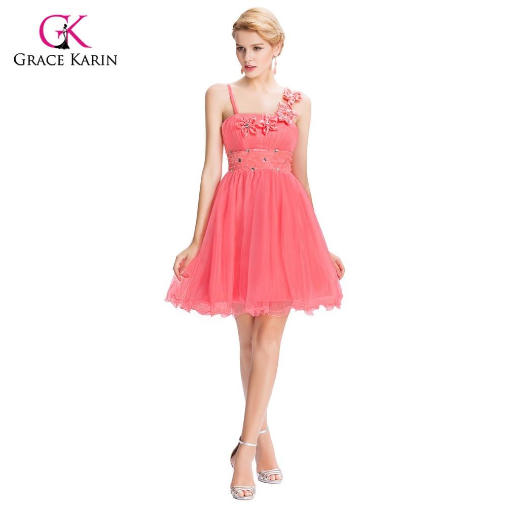 ᐂBeautiful Pink Bridesmaid Dresses Grace Karin 2018 Flower Empire ...