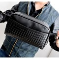 Fashion  PU leather men chest pack  travel mini bag