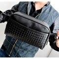 Moda PU hombres de cuero mini bolso del pecho paquete de viaje