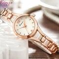 Kimio lady quartz relógio de pulso marca de luxo strass relógios à prova d' água de prata. rosa de ouro aço inoxidável assista mulheres dress watch