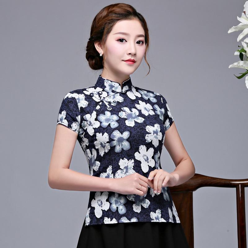 88aff1308 Style Corto Dama Qipao Vintage Collar Blusa Ropa Mandarin Camisa Para 3 S  Estilo xxxl Cheongsam Chino ...