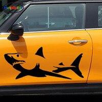 Hotmeini 26.7x60 سنتيمتر الجدة الحيوانات البحرية الأبيض القرش السحرية سيارة ملصق لتصفيف ناحية نحت الديكور الفينيل صائق المحيط