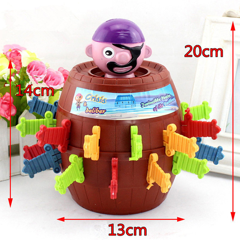Novelty Tricky Pirate Barrel Game for Kids and adults Lucky Stab Pop Up Game Toys Intellectual Party Game toy for Children gift big metal box domino 91 pcs pai gow toy game double 12 domino table game toys for children and adults board game