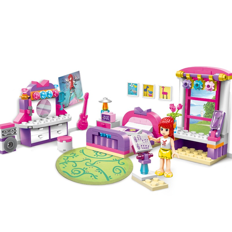ENLIGHTEN City Girls Shirley's bedroom Building Blocks Sets Bricks Model Kids Gift For Children Toys Compatible Legoings Friends