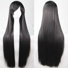 Hot Solid Glueless Brazilian Heat Resistant Lace Front Wig Full Hair Wigs with Baby Hair Fake Ponytail straight Hair(China)