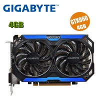 GIGABYTE Графика карты GTX 960 4 GB 128Bit GDDR5 видео карты для nVIDIA видеокартами Geforce GTX960 Hdmi Dvi игра используется gtx750ti 750