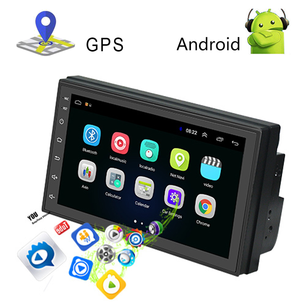 Lecteur multimédia de voiture Podofo 2 din 7 ''radio FM tactile avec Bluetooth GPS WIFI 1024*600 résolution d'écran - 6