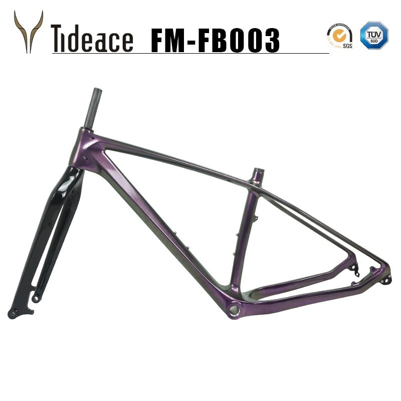 2019 OEM Custom Carbon Fiber 26er Bike Frame Max 5.0 Tires Snow Bicicletas Frames Rear 197mm Front 140mm Fat Bike Frame Carbon