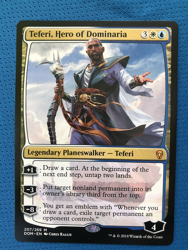 Teferi, Hero Of Dominaria DOM Hologram Magician ProxyKing 8.0 VIP The Proxy Cards To Gathering Every Single Mg Card.