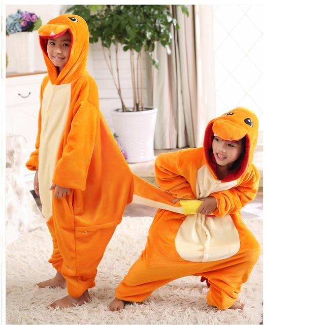 9e39645a36fc pokemon costumes pajamas for girls boys kid child pokemon charmander ...