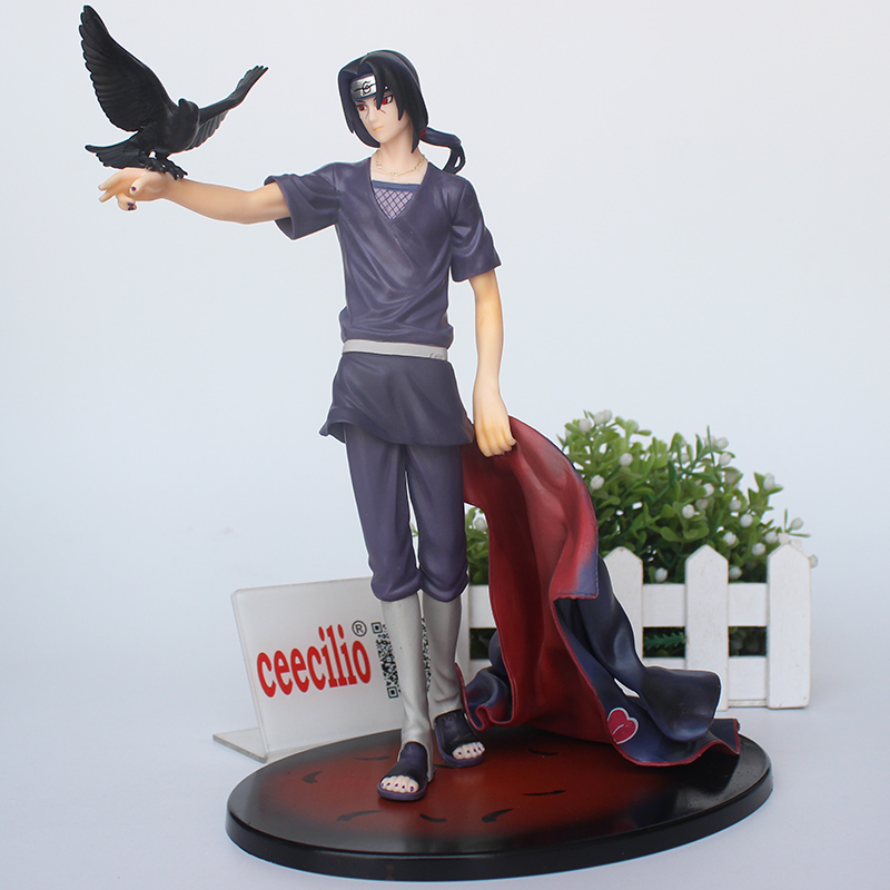Anime Naruto Shippuden Uchiha Itachi PVC Action Figure Collectible Model Toy Doll 27cm fire toy marvel deadpool pvc action figure collectible model toy 10 27cm mvfg363