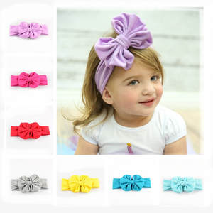Big Bow Headwear Christmas-Gifts Girls Cute for New 5pcs/Lot 12C In-Stock Kids 38CM FDA06