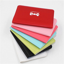 Cute Bow Credit Card Holder Women Men 12 Bits PU Leather Buckle Business Cards ID Passport Wallet Bag