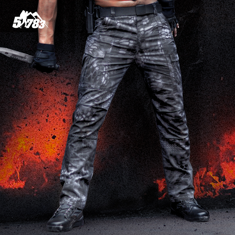 51783 Outdoor Tactical Army Military Black Cargo Pants Men s Sweatpants Sports Trousers Clothing Male Overalls