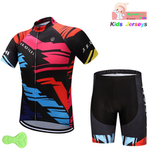 Boys Cycling Clothing Set Kids Cycling Jersey Summer Cycling Skinsuit Mtb  Bike Shorts Set Reflective Child a1cc7976f