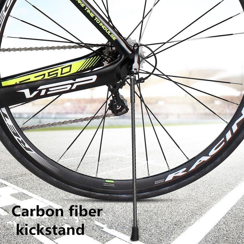 Lightweight Kickstand: Ultralight Carbon Fiber Kickstand Tripod Mountain Bike