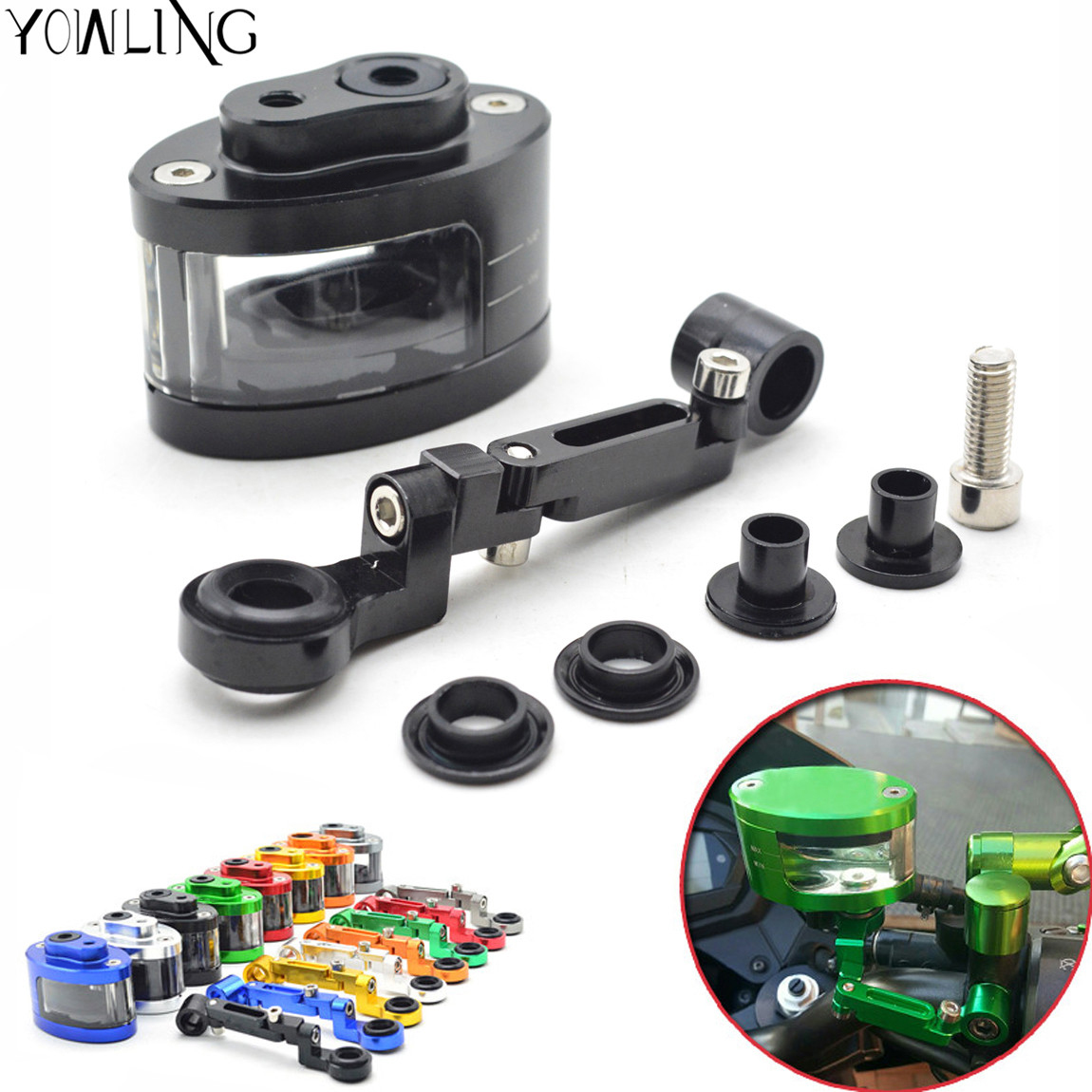 for Honda CB650F CB1000R CBR 600f4i CB400 CB1000RR Aprilia R3 R6 Motorcycle Front Brake Clutch Tank Cylinder Fluid Oil Reservoir motorcycle brake fluid reservoir clutch tank oil fluid cup for yamaha r3 r25 yzf r1 yzf r6 t max500 tmax530 mt09 xsr900 honda