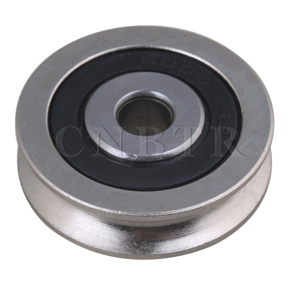 6x30x8mm Bearing Guide Rail Idler Passive Wheel U Groove Pulley Roller CNBTR stainless steel idler heavy duty gravity roller rubberized conveyor roller pallet conveying pulley