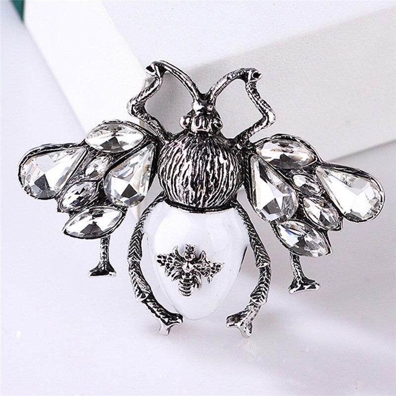 Пчела, жук, краб, муравьи, улитка, броши с птицами, Скорпион, стразы, Винтажные Украшения в виде животных, брошь - Окраска металла: 21