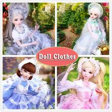Handmade Western-style Princess Dress Doll Clothes Girl Clothing for 60cm 1/3 Bjd Dolls Accessories for Doll Kids Toys For Girls