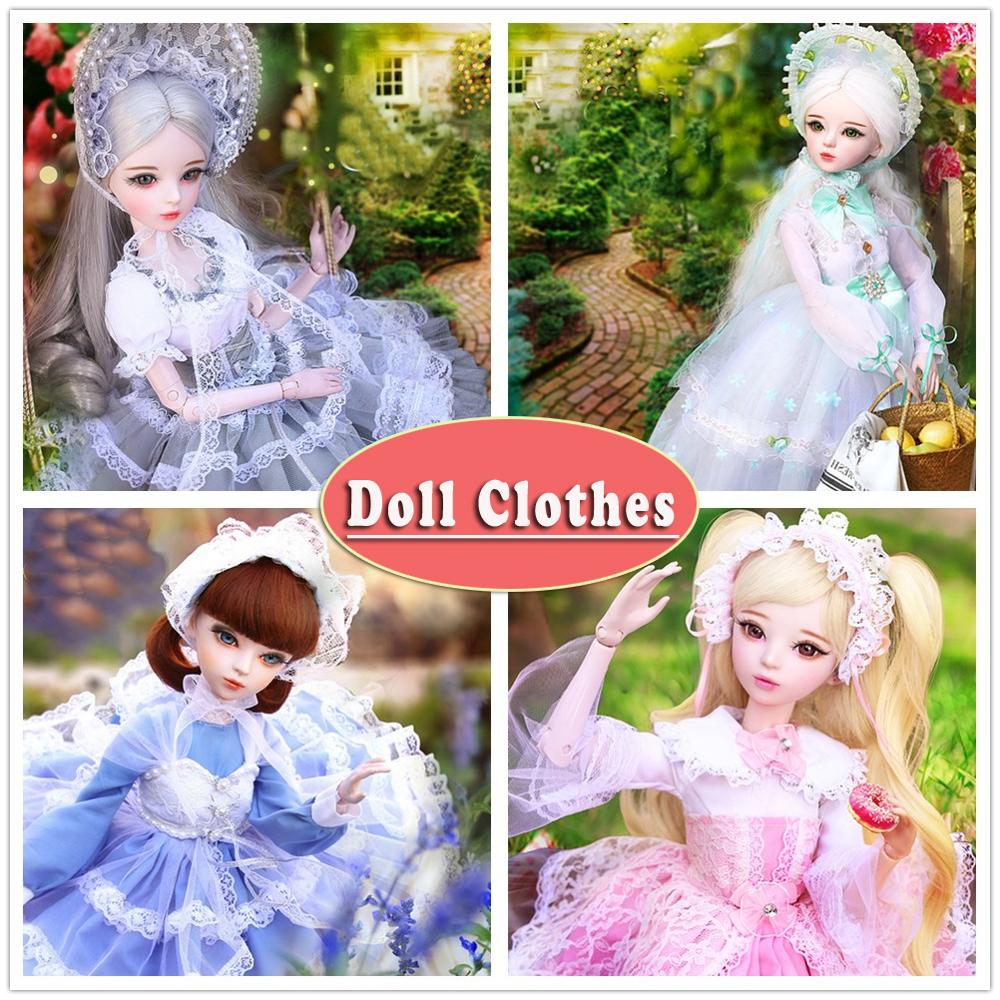 Handmade Western-style Princess Dress Doll <font><b>Clothes</b></font> Girl Clothing for 60cm <font><b>1/3</b></font> <font><b>Bjd</b></font> Dolls Accessories for Doll Kids Toys For Girls image