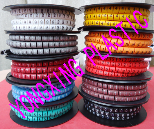 70roll/lot EC-0  0.75 and 1mm2 square mark cable 10 different number and color from 0-9 16roll lot cirlce cable marker ec 3 6 square meter yellow color x y z s each 4 roll